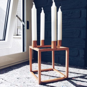 diy kubus kerzenst nder metakognitiva. Black Bedroom Furniture Sets. Home Design Ideas
